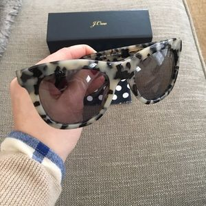 J. Crew Accessories - J Crew grey tortoise oversized sunglasses